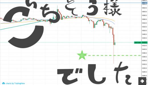 【2018年6月13日:エントリ】BTCの暴落でラッキーパンチ!!、、、、、が、利益は4円。
