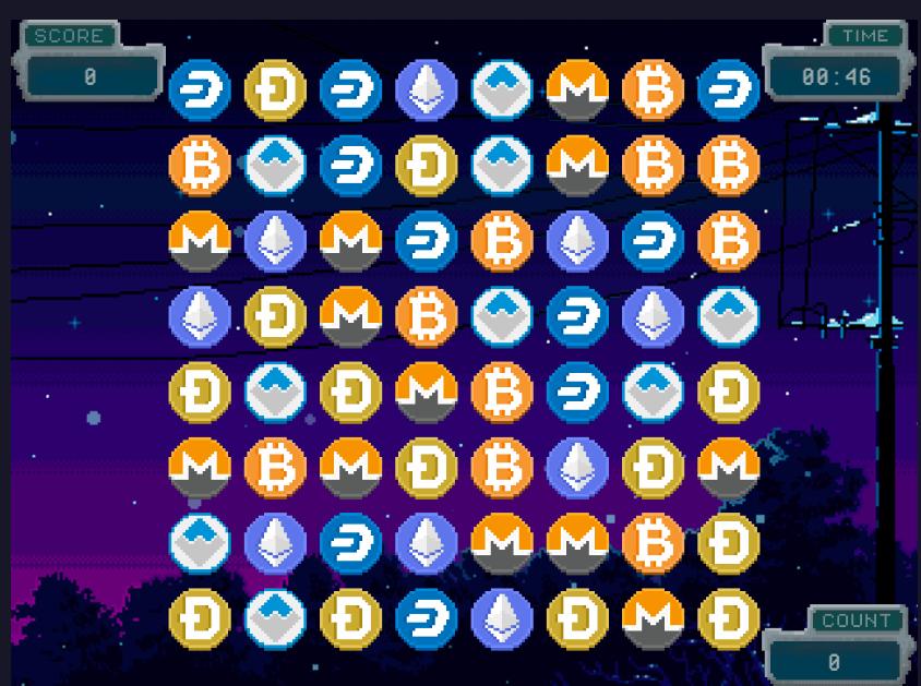 coin-matchというゲームの画面
